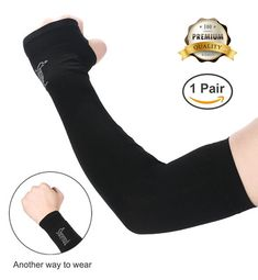 CHAMPRO FCAs  FOOTBALL  ARM SLEEVES BLACK ONLY SOLD AS SINGLES