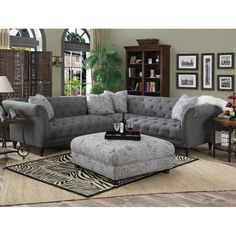 Sally 102'' Tufted Sectional Sofa & Reviews | Joss & Main