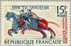 Fragment of the tapestry of Queen Mathilde in Bayeux