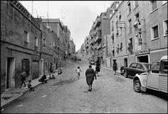 Años 60. Calle Cuartel de Simancas, barrio del Verdún. Fotografia de Sergio Dahò