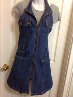 Upcycled Recycled Repurposed Denim Apron Women's Apron by HookinUp, $35.00