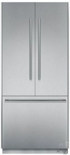 """Thermador T36IT800NP 36"""" Built-in Flush French Door Refrigerator with 19.5 cu. ft. Capacity, Freedom Hinges, Individual Compressor/Evaporator, Cantilever Racks, Extra Bright LED Lights and Accepts Full Height Custom Door Panels"""