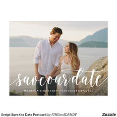 Shop Script Save the Date Postcard created by FINEandDANDY. Personalize it with photos & text or purchase as is! Save The Date Photos, Save The Date Postcards, Save The Date Cards, Silver Save The Dates, Wedding Save The Dates, Save The Date Invitations, Wedding Invitations, Invites, Invitation Suite