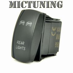 Amazon.com: MICTUNING LS081302 Laser Backlit BLUE REAR LIGHTS 20 Amp LED Lights ON/OFF Rocker Switch Kit: Automotive