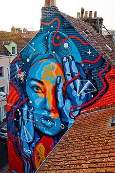 À l'occasion de la première édition du festival d'art urbain à Boulogne-sur-mer…