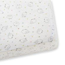 Gerber Knit Cradle Sheet - Fitted - Lamb Print $14.97
