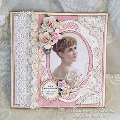 Pion Design's new collection Patchwork of Life has beautiful images that is perfect for confirmation cards, and here is a card made from the pink tones in this collection. Birthday Cards For Women, Handmade Birthday Cards, Vintage Cards, Vintage Paper, Heritage Scrapbook Pages, Confirmation Cards, Shabby Chic Cards, Marianne Design, Mothers Day Cards