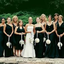 red and black bridesmaid dresses - Google Search