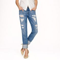 worn out cuffed boyfriend jean - nude heals - white button up - so simple so chic -