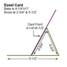 """Card Creations by Beth: November  It's very simple to make: Score a 4-1/4""""x11"""" piece of card stock at 2-3/4"""" and 5-1/2"""".  Fold inward on both score lines to make a short """"tent.""""  Next, attach a base of 4-1/4""""x5-1/2"""" card stock to the bottom end of the """"tent"""" to be your card front. See blog for actual card details"""