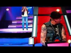 The voice Australia: Rachael Leahcar sings La Vie en Rose. I think they just let her go as long as they did without buzzing because they were in shock. This gal is blind and is living her dream.