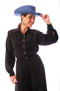 Sueded Black Blouse