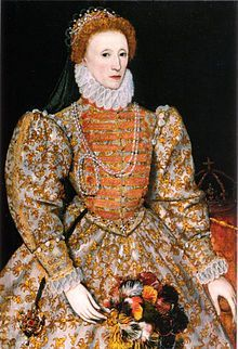 Elizabeth the first.  Tudor queen of England and Ireland, nicknamed 'Gloriana' and the 'Virgin Queen' who overcame many challenges and threats at home and from abroad to preside over a perceived 'golden age' in English history.