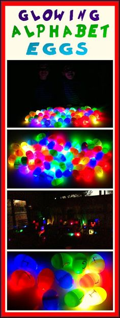 Glowing Alphabet Eggs - Fun, educational, and NOT just for Easter!!!