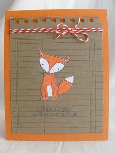 Woodland Fox Birthday Card by AnitaRex, via Flickr