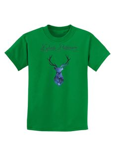 TooLoud Expecto Patronum Space Stag Childrens Dark T-Shirt