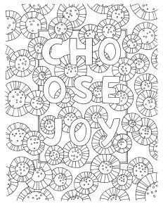 Free Coloring Page Choose Joy Coloring Pages Free Coloring