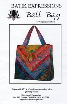 The Bali Bag Pattern - Quilting by the Bay in Panama City, Florida featuring Quilting Fabric, Quilt Books, Quilt Patterns and Quilt supplies