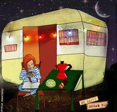 De vacaciones con la lectura (ilustración de Nuria Martinez)