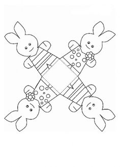 Patron for a basket - Easter Crafts Holiday Crafts For Kids, Easter Crafts For Kids, Summer Crafts, Animal Templates, Basket Crafts, Easter Printables, Holidays And Events, Easter Eggs, Coloring Pages