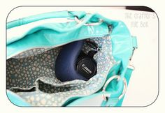 diy camera bag with needle point canvas and car headliner fabric