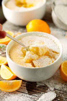 Gooey Lemon Soufflé Pudding Cakes