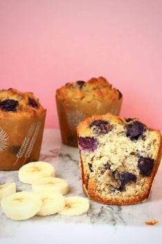 Gluten-Free Vegan Blueberry Banana Bread Muffins