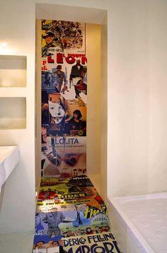 parete decorazione inserto con resina a parete e pavimento