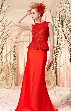 Long Red Ready to wear Prom