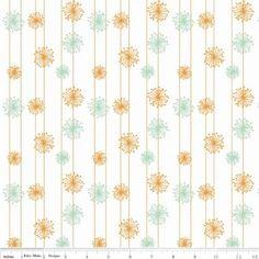 http://www.plushaddict.co.uk/riley-blake-good-natured-dandelion-mint-46946.html Riley Blake - Good Natured Dandelion Multi