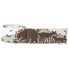 DwellStudio Crib Bumper Woodland Tumble Mocha $192