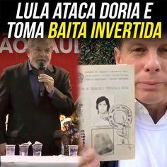 """O réu por corrupção e aspirante a ditador Lula foi atacar Doria num evento do PT. Disse que Doria não mereceria o título de """"trabalhador"""".  Doria respondeu."""