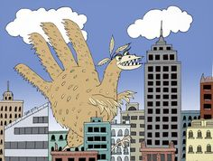 """The Hand Turkey Menace"" by ©Carolyn Watson Dubisch  for Nov 12, 2012"