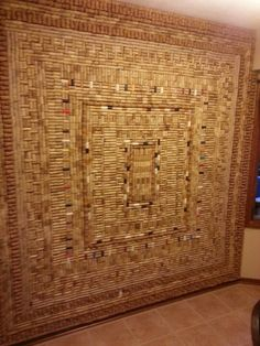 cork wine wall | Wine cork wall. | wall panel / screen
