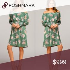 COMING SOON!!! Off the shoulder Floral dress Super cute coming soon, like for heads up on arrival Dresses
