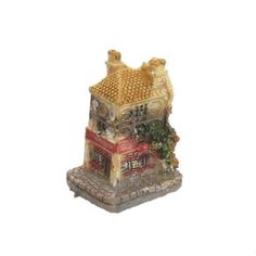Amazon.com: Como Artificial Assorted Color Resin Double-deck Miniature House Aquatic Decor: Pet Supplies
