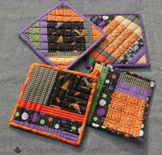 Buttons and Butterflies: Potholders Galore