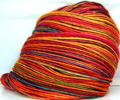 Rainbow!  Kitty Grrlz HandSpun Bamboo Yarn Summer Carnival by kittygrrlz, $ 28.00