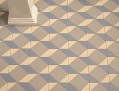 Victorian Floor Tiles - when you look closely at the patterns, you can see how they are made up by indivdual pieces, such as triangles in varying shades in this Art Deco style design.