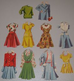 Vintage 1940s Girl Pilots Paper Dolls Uniforms Clothes WAF Woman Female WWII   eBay