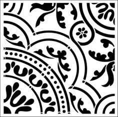 Medieval No 3 stencil from The Stencil Library GOTHIC, MEDIEVAL AND TUDOR range. Buy stencils online. Stencil code T2.