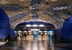 Stockholm Metro is one gigantic art gallery. Sweden