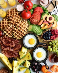 Rumour has it, that breakfast is the most important meal of the day. So, let's kick off the weekend with a little respect for… Guacamole, Buttermilk Waffles, Grazing Tables, Party Platters, Recipe Of The Day, Charcuterie, Grilled Chicken, Gluten Free Recipes, Spicy