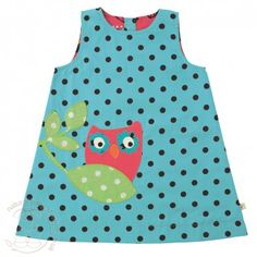 Frugi Reversible Pinafore Dress - Aqua Dot (3-24 months) £26.00