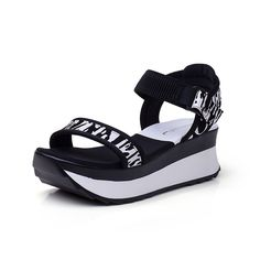 The Korean version of the open-toe student women's shoes/ Lady Joker thick-soled platform shoes/High heel sandals/Women sandals *** Check out this great product.
