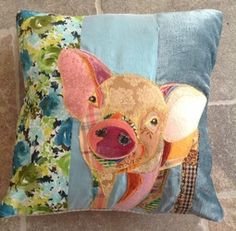 Wonderful collection of patchwork animal cushions here - P & R Creations