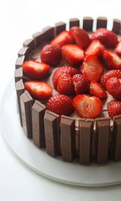 Raspberry, Strawberry, Chocolate, Food Pictures, Food Pics, Let Them Eat Cake, Cheesecake, Food And Drink, Sweets