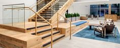 Open House Plans, Green Architecture, Wood Interiors, Recycled Wood, Recycling, Stairs, Flooring, Fresh, Interior Design