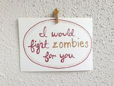 Zombie Anniversary Card