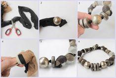 Come creare una collana riciclando i collant – Is laura